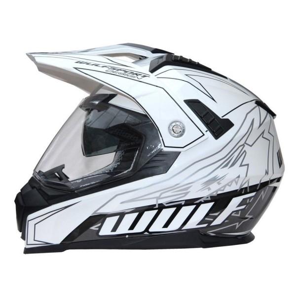 Prima-X Cross Helm Weiss Motorrad Quad ATV Bike Enduro MX BMX Supermoto