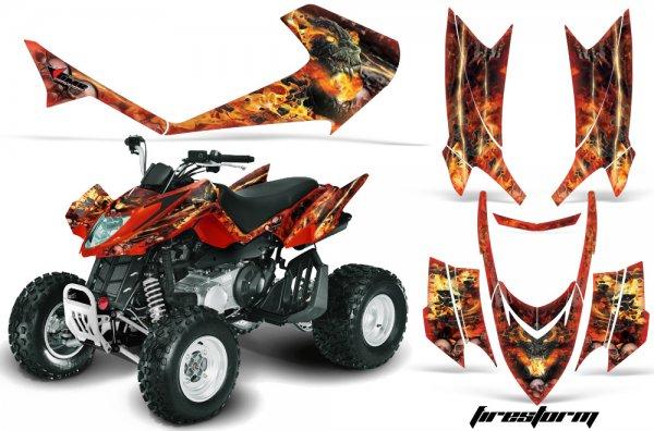 Grafik Kit Dekor Firestorm Arctic Cat DVX 400/300/250 Quad ATV Graphic Kit