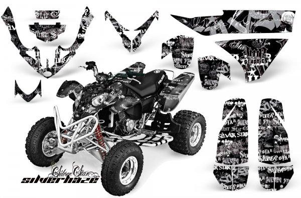 Grafik Kit Dekor Silver Star Silver Haze Polaris Predator 500 Quad ATV Graphic Kit