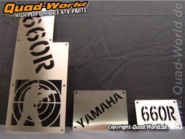 Warnschilder Edelstahl Fadenkreuz Yamaha YFM 660R Quad