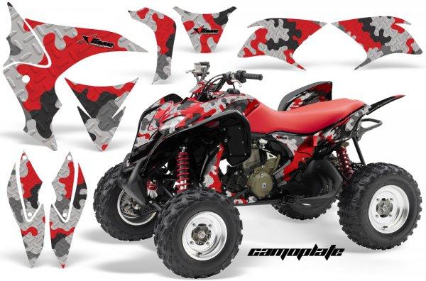 Grafik Kit Dekor Camo Plate Honda TRX 700XX Quad ATV Graphic Kit