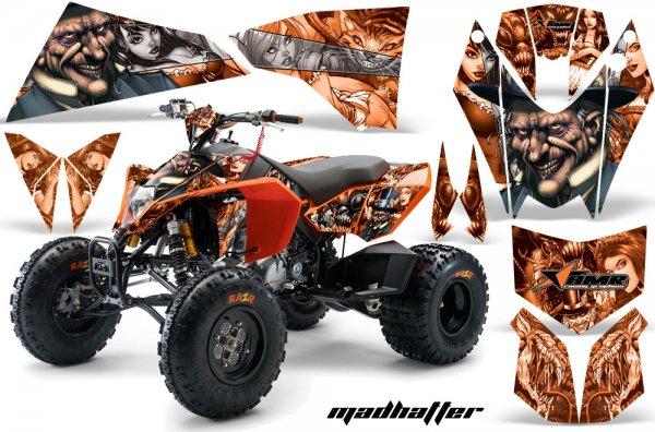 Grafik Kit Dekor MadHatter KTM 450/505/525 Quad ATV Graphic Kit