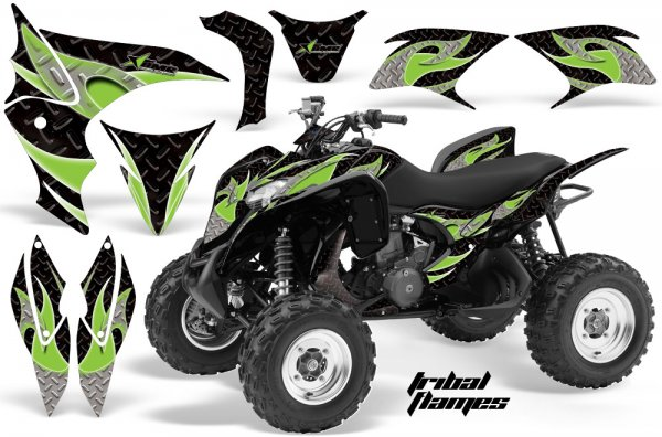 Grafik Kit Dekor Tribal Flame Honda TRX 700XX Quad ATV Graphic Kit