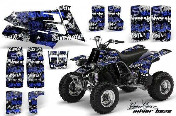 Grafik Kit Dekor Silver Star Silver Haze Yamaha 350 Banshee Quad ATV Graphic Kit