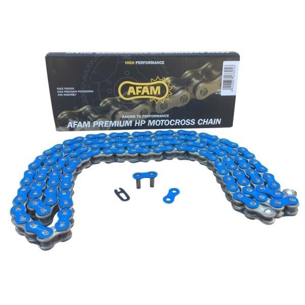 AFAM Quad Kette verstärkt Typ A520MX4-B 520 / 120 Glieder Farbe Blau von 250cc bis 500cc