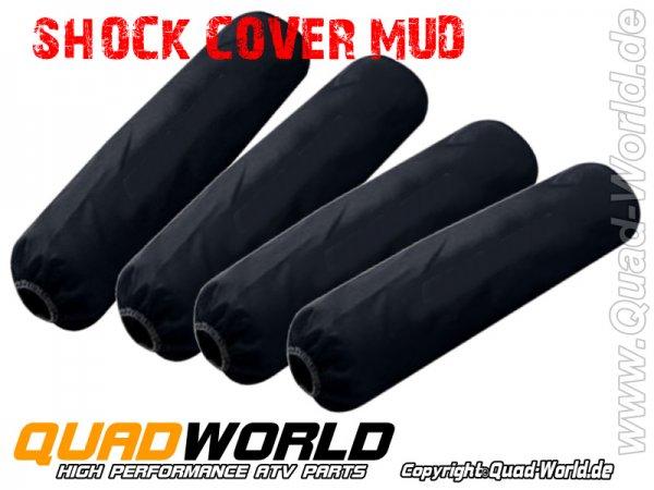 Federbeinschützer Shock Cover MUD Black für ATV 4 Stück