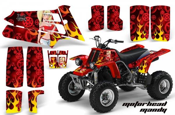 Grafik Kit Dekor Motorhead Mandy Yamaha 350 Banshee Quad ATV Graphic Kit