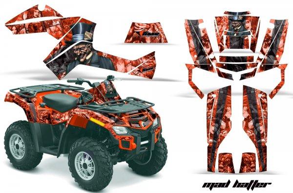 Grafik Kit Dekor MadHatter Can Am Outlander 800 Quad ATV Graphic Kit