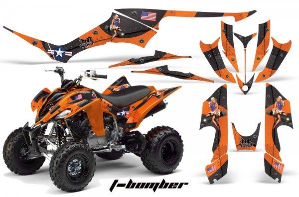 Grafik Kit Dekor T-Bomber Yamaha YFM 350 R Quad ATV Graphic Kit