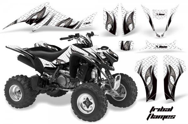 Grafik Kit Dekor Tribal Flames Kawasaki KFX 400 Quad ATV Graphic Kit