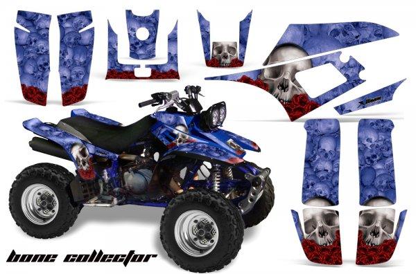 Grafik Kit Dekor Bonecollector Yamaha YFM 350 Warrior Quad ATV Graphic Kit