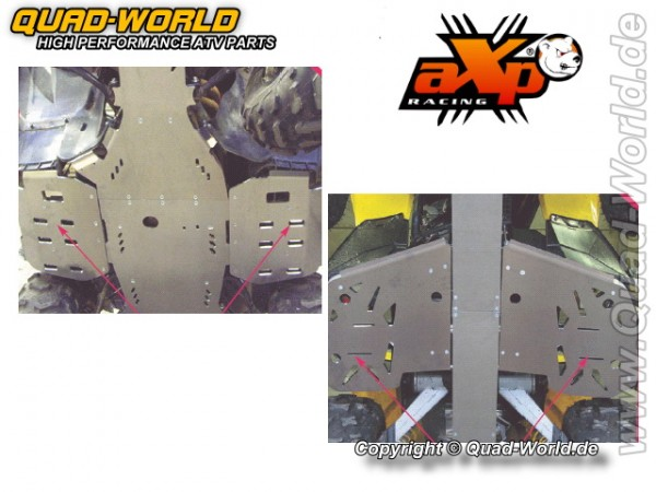 AXP ATV Fußrastenschutz Yamaha RHINO 660 06 Alu