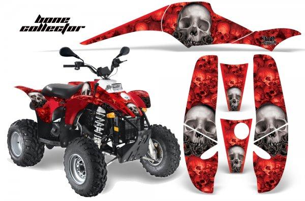 Grafik Kit Dekor Bone Collector Polaris Scrambler,Trailblazer 200/400/500 Quad ATV Graphic Kit