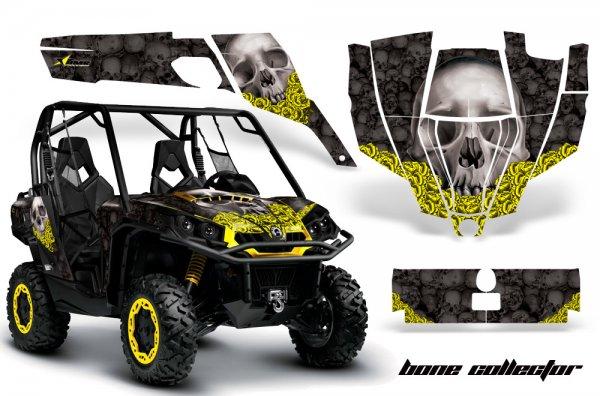 Grafik Kit Dekor Bone Collector CanAm BRP Commander 1000, 800 UTV Graphic Kit