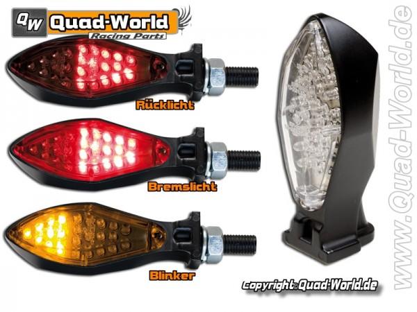 LED Blinker Rücklicht Kombination Micro-Space Black