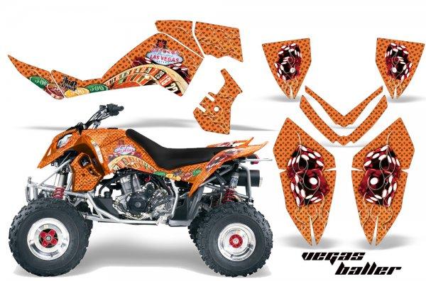 Grafik Kit Dekor Vegas Baller Polaris Outlaw 450/500/525 06-08 Quad ATV Graphic Kit
