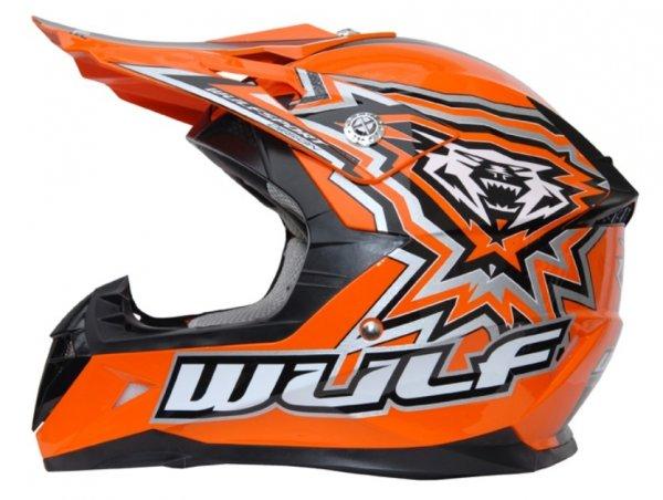 Kinder Cross Helm Flite-Xtra M (49-50cm) Orange Motorrad Quad Bike Enduro MX BMX Helm