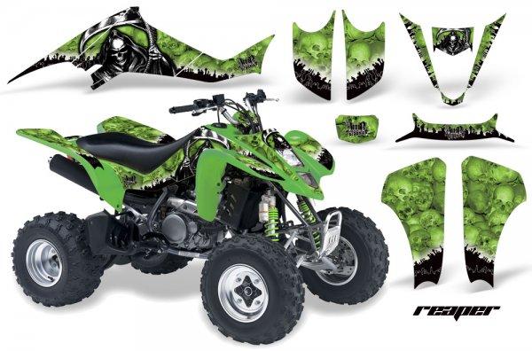 Grafik Kit Dekor Reaper Kawasaki KFX 400 Quad ATV Graphic Kit