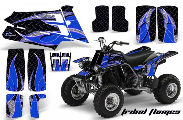 Grafik Kit Dekor Tribal Flames Yamaha 350 Banshee Quad ATV Graphic Kit