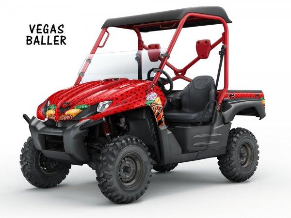 Grafik Kit Dekor Vegas Baller Kawasaki Teryx 750 07-09 UTV Graphic Kit