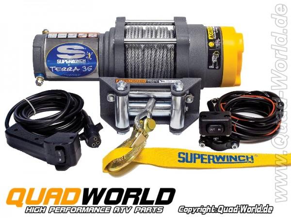 SUPERWINCH ATV Seilwinde TERRA 35 Stahlseil 1588kg