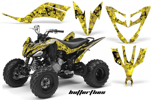 Grafik Kit Dekor Butterflies Yamaha YFM 250 R Quad ATV Graphic Kit