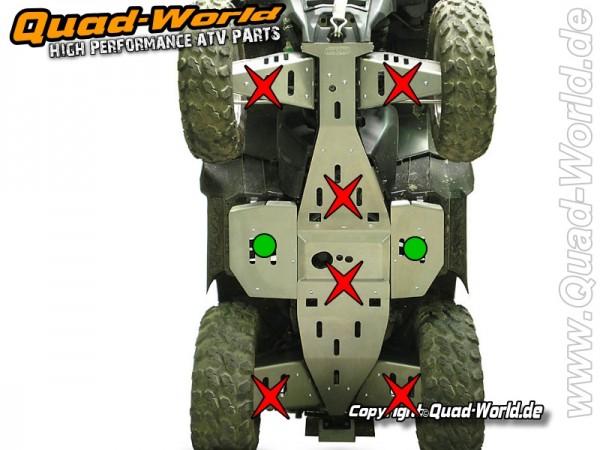 Trittbrett Schutz für Polaris Sportsman 850 XP/XPS (2009/2010)