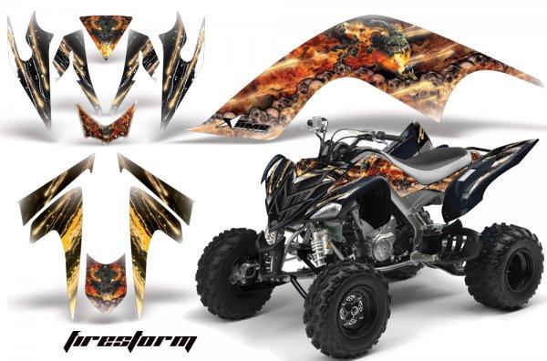 Grafik Kit Dekor Fire Storm Yamaha YFM 700R Quad ATV Graphic Kit