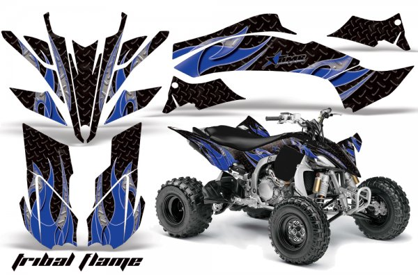 Grafik Kit Dekor Tribal Flame Yamaha YFZ 450 09-10 Quad ATV Graphic Kit