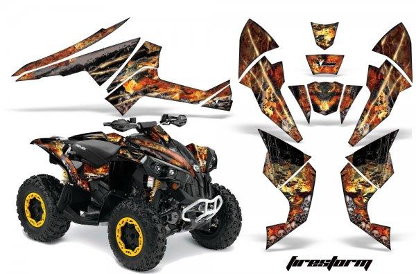 Grafik Kit Dekor Firestorm Can Am Renegade 800x 800r Quad ATV Graphic Kit