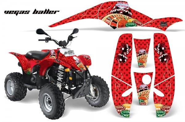 Grafik Kit Dekor Vegas Baller Polaris Scrambler,Trailblazer 200/400/500 Quad ATV Graphic Kit