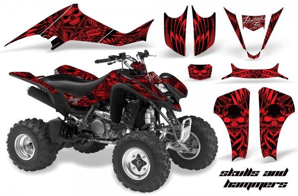 Grafik Kit Dekor Skulls & Hammers Suzuki LTZ 400 04-08 Quad ATV Graphic Kit