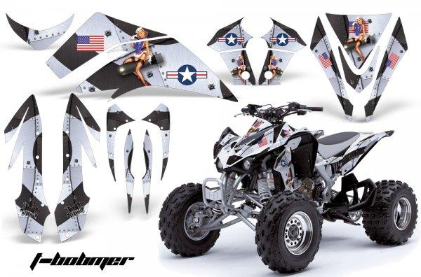 Grafik Kit Dekor T-Bomber Kawasaki KFX 450 Quad ATV Graphic Kit