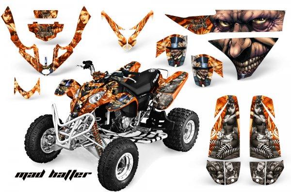 Grafik Kit Dekor MadHatter Polaris Predator 500 Quad ATV Graphic Kit