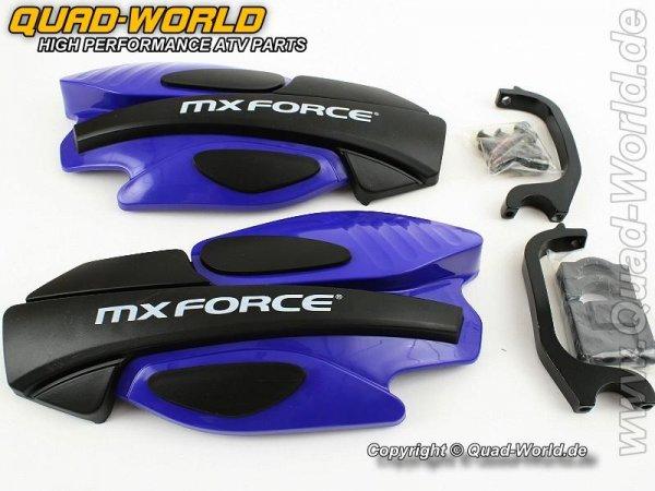 MX Force Race Handschalen Handprotektoren Blau incl. Haltekit
