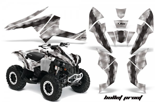 Grafik Kit Dekor Bullet Proof Can Am Renegade 800x 800r Quad ATV Graphic Kit