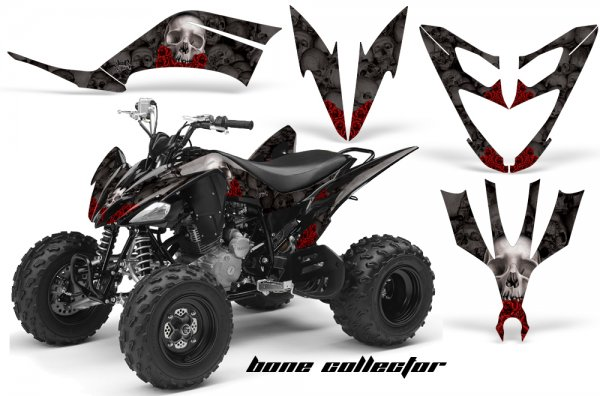 Grafik Kit Dekor Bone Collector Yamaha YFM 250 R Quad ATV Graphic Kit