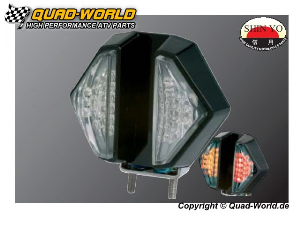 LED Rücklicht incl. Blinker Schwarz 2 Stück