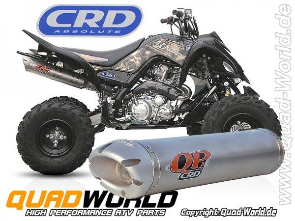 CRD QP2 Auspuff Komplettanlage E-Geprüft ABE für Yamaha YFM 700R