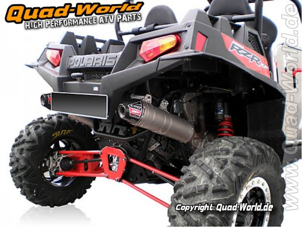 Polaris RZR 900 XP Doppel Auspuff Komplett Anlage Titan GP X-Race 2011-2012