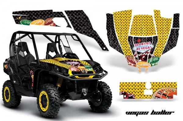 Grafik Kit Dekor Vegas Baller CanAm BRP Commander 1000, 800 UTV Graphic Kit