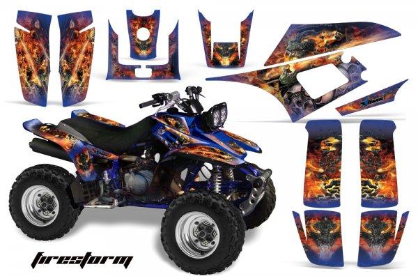Grafik Kit Dekor Firestorm Yamaha YFM 350 Warrior Quad ATV Graphic Kit