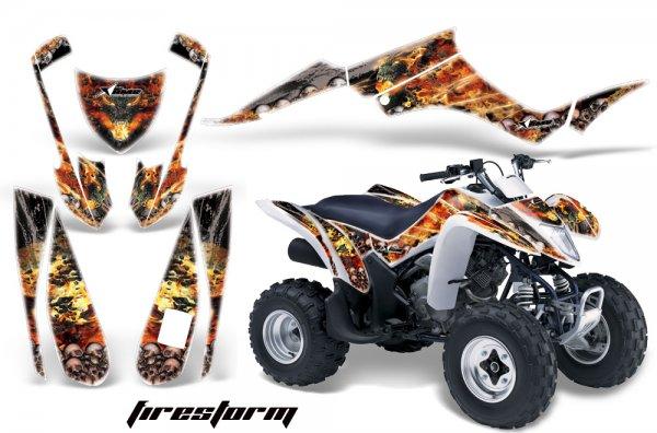 Grafik Kit Dekor Firestorm Suzuki LTZ 250 Quad ATV Graphic Kit