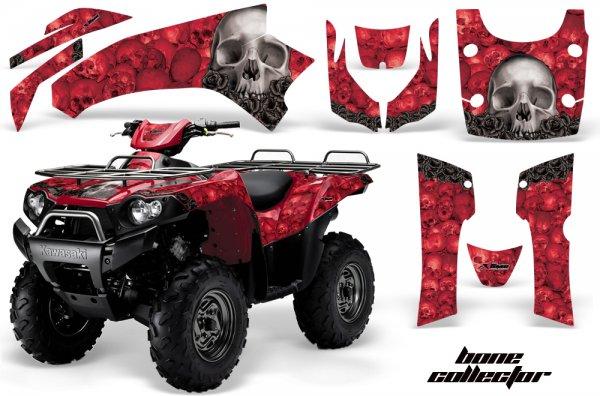 Grafik Kit Dekor Bone Collector Kawasaki Brute Force 750 Quad ATV Graphic Kit