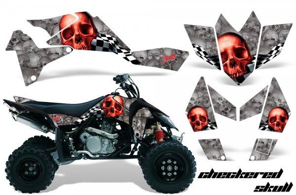 Grafik Kit Dekor Checkered Skull Suzuki LTR 450 Quad ATV Graphic Kit