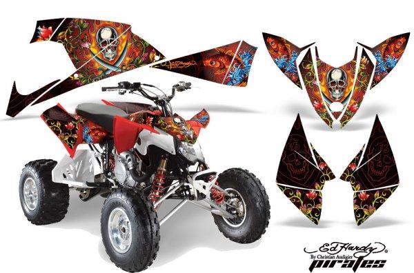 Grafik Kit Dekor Ed Hardy Pirates Polaris Outlaw 450/500/525 09-11 Quad ATV Graphic Kit
