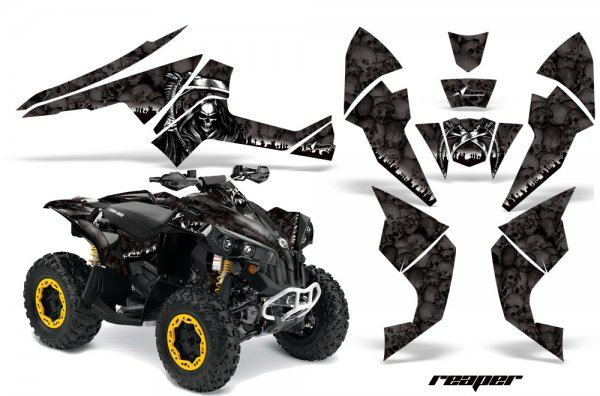 Grafik Kit Dekor Reaper Can Am Renegade 800x 800r Quad ATV Graphic Kit