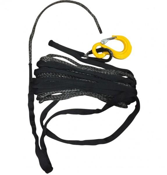 Kunststoff Synthetik Nylon Seil mit Hacken für Seilwinde 6mm 15m 3,2to