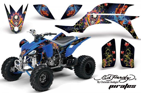 Grafik Kit Dekor Ed Hardy Pirates Yamaha YFZ 450 04-08 Quad ATV Graphic Kit