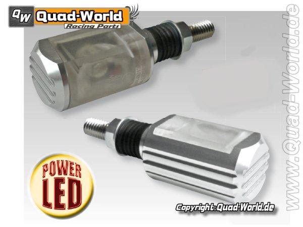 HI-Power LED-Blinker PADOVA Alu Silber E-gepr. Paar